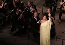 Anna Netrebko at theatre des champs elysees, Paris, may 10, 2015 Royalty Free Stock Images