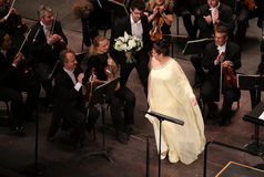 Anna Netrebko at theatre des champs elysees, Paris, may 10, 2015 Royalty Free Stock Photos