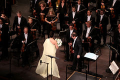 Anna Netrebko at theatre des champs elysees, Paris, may 10, 2015 Stock Photo