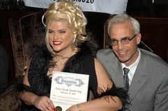 Anna Nicole Smith, Steve Martin royalty free stock images