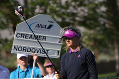 Anna Nordqvist at the ANA inspiration golf tournament 2015 Royalty Free Stock Photos