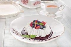 Anna Pavlova-dessert royalty-vrije stock afbeelding