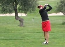 Anna Rawson, Golf Dame-europäischer Ausflug Stockbild