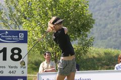 Anna Rawson, Golf Swiss Open, Losone, 2007 Stock Photo