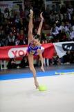 Anna Rizatdinova esegue con la palla Fotografie Stock