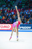 Anna Rizatdinova performing with hoop Royalty Free Stock Photos