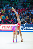 Anna Rizatdinova performing with hoop Stock Images