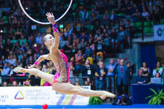Anna Rizatdinova performing with hoop Royalty Free Stock Photo