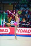 Anna Rizatdinova performing with hoop Stock Images