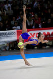 Anna Rizatdinova performs with ball Stock Photos