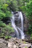 Anna Ruby Falls. Famous forest waterfall in Northern Georgia stock photography