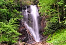 Anna Ruby Falls. View of Falls in Southern Appalachian Mountains royalty free stock images