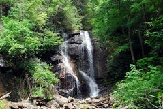 Anna Ruby Falls. Photographed Unicoi State Park, Georgia stock photo