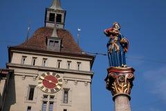 Anna Seiler Brunnen Statue, Bern Royalty Free Stock Images