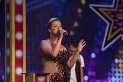 Anna Semenovich τραγουδά Στοκ φωτογραφία με δικαίωμα ελεύθερης χρήσης