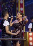 Anna Semenovich sing Royalty Free Stock Photo