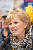 Anna Soubry-MP bij ?Voorgelegd het aan de Mensen ?protesteert demonstratie royalty-vrije stock afbeeldingen