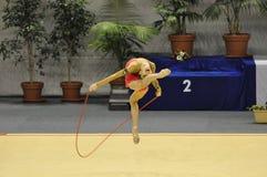 Anna Trubnikova, relativo alla ginnastica ritmico immagini stock