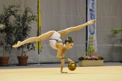 Anna Turbnikova, relativo alla ginnastica ritmico Fotografie Stock Libere da Diritti