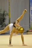 Anna Turbnikova, relativo alla ginnastica ritmico Fotografie Stock