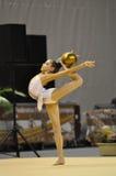 Anna Turbnikova, rythmic gymnastiskt Fotografering för Bildbyråer