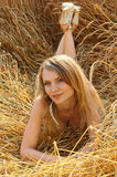 Anna in wheat field 2 Royalty Free Stock Image