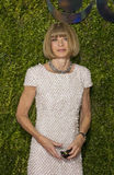 Anna Wintour Arrives at the 2015 Tony Awards. English Editor-in-Chief of American Vogue Anna Wintour, sporting her traditional pageboy bob haircut, arrives on Royalty Free Stock Photography