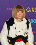 "Anna Wintour. Editor-In-Chief of Vogue magazine, arrives on the red carpet for the New York premiere of the third season of the hit HBO cable comedy ""Girls Royalty Free Stock Image"