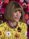 Anna Wintour at 2018 Tony Awards. American and English fashion maven and journalist Anna Wintour arrives on the red carpet for the 72nd Annual Tony Awards held Stock Images