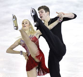 Anna Yanovskaya και Sergey Mozgov από τη Ρωσία Στοκ Εικόνες