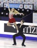 Anna Yanovskaya and Sergey Mozgov from Russia Royalty Free Stock Image