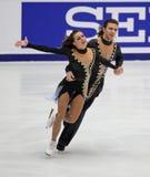 Anna Zadorozhniuk και Sergei Verbillo (UKR) Στοκ εικόνα με δικαίωμα ελεύθερης χρήσης