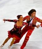 Anna Zadorozhniuk and Sergei Verbillo. ISU European Figure Skating Championship 2009 in Helsinki, Finland. Anna Zadorozhniuk and Sergei Verbillo from Ukraine in Stock Images