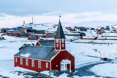 Annaassisitta Oqaluffia, εκκλησία του λυτρωτή μας στην ιστορική CEN Στοκ Εικόνες