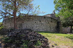 Annaberg糖种植园在圣约翰 图库摄影