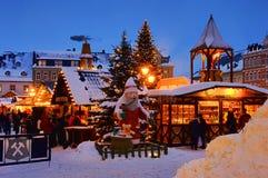 annaberg buchholz圣诞节市场 免版税库存图片