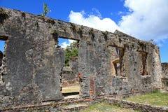 Annaberg Cukrowa plantacja w St John Zdjęcie Royalty Free