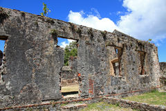 Annaberg Sugar Plantation in St John Royalty Free Stock Photo