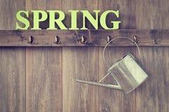 Annaffiatoio della primavera Fotografia Stock