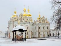 Annahme-Kathedrale von Kyiv Pechersk Lavra Stockfotografie