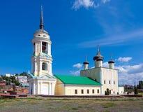 Annahme-Kirche auf dem Admiralitäts-Damm in Voronezh-Stadt, Russland lizenzfreies stockfoto