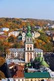 Annahme-Kirche, Lemberg, Ukraine Stockbilder
