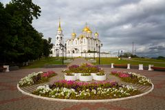 Annahmekathedrale bei Vladimir errichtete im 12. Jahrhundert lizenzfreie stockfotos