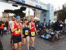Annalisa Minetti, αθλητής του μαραθωνίου της Ρώμης Στοκ Εικόνες