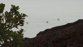 Annalkande land för fartyg stock video