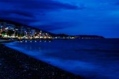 Annalkande storm med lynnig blå atmosfär Royaltyfri Fotografi