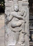 Annamalaiyar Temple in Thiruvannamalai, Dwarapalaka sculpture. Royalty Free Stock Photos