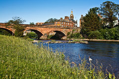 Annan Bridge and Town Hall Stock Photography