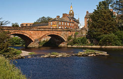 Annan Bridge and Town Hall Royalty Free Stock Photos