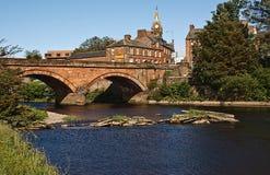 Annan bro och stadshus Royaltyfria Foton